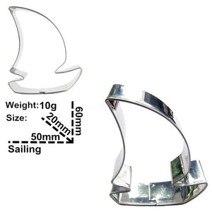 Sail Boat Cookie Cutter - 6cm - Stainless Steel - Crafty Cookie Cutters