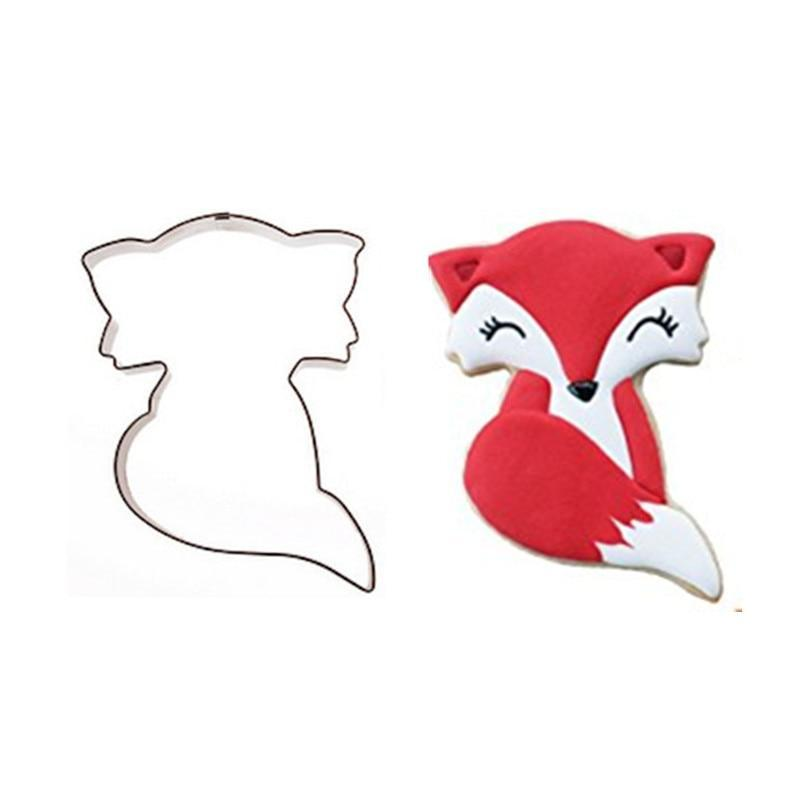 Cartoon Fox Cookie Cutter - 10cm - Stainless Steel - Crafty Cookie Cutters