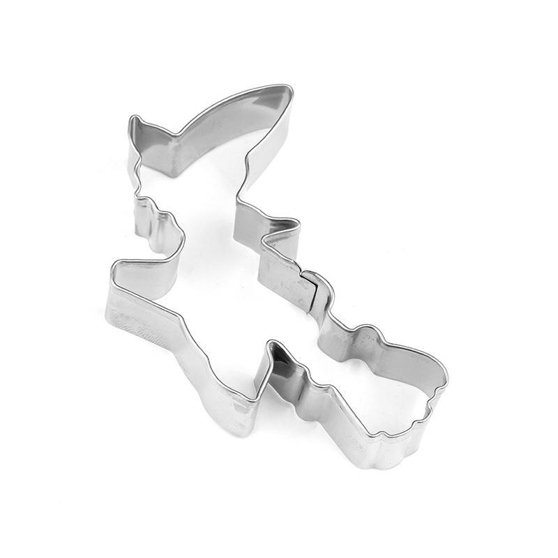 Flying Witch Cookie Cutter - 8cm - Stainless Steel - Crafty Cookie Cutters