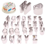 26 Pcs Alphabet Cookie Cutter Set - 2.5cm - Stainless Steel - Crafty Cookie Cutters