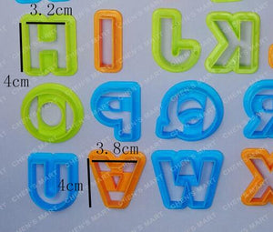 Alphabet Cookie Cutter Set - 4cm - Plastic - Crafty Cookie Cutters