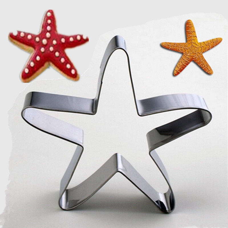Star Fish Cookie Cutter - 8cm - Stainless Steel - Crafty Cookie Cutters