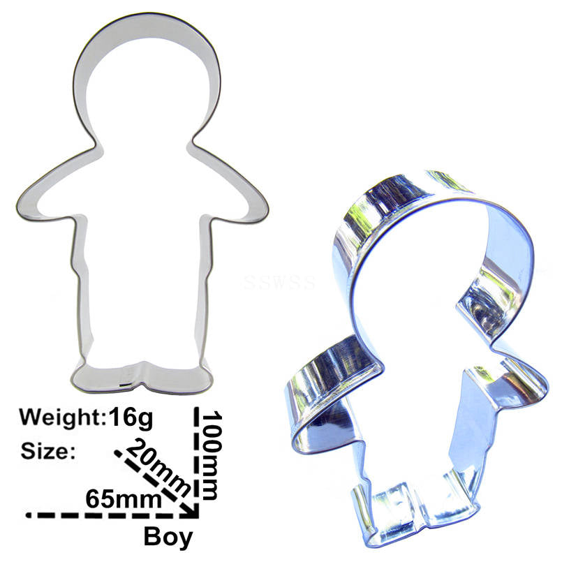 Boy Cookie Cutter - 10cm - Stainless Steel - Crafty Cookie Cutters