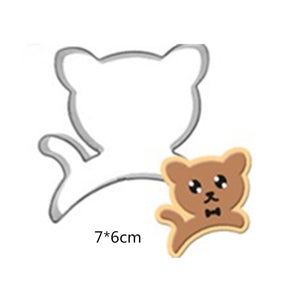 Running Cat Cookie Cutter - 7cm - Aluminium - Crafty Cookie Cutters