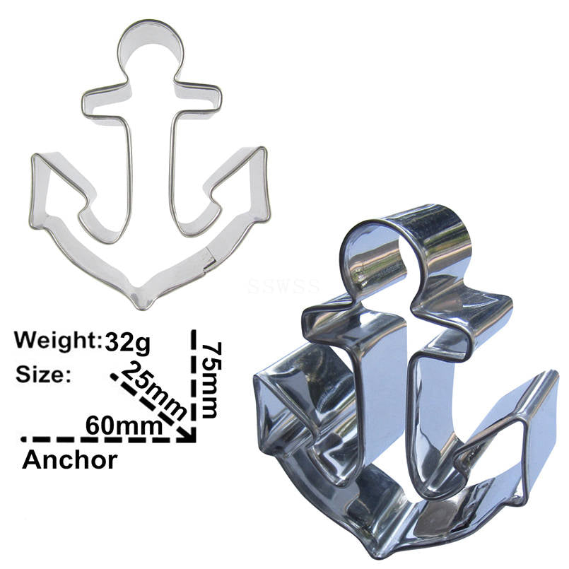 Anchor Cookie Cutter - 8cm - Stainless Steel - Crafty Cookie Cutters