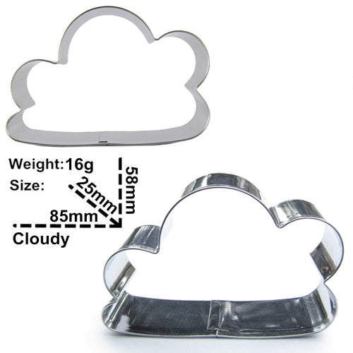 Rain Drop and Cloud Cookie Cutter - Stainless Steel - Crafty Cookie Cutters