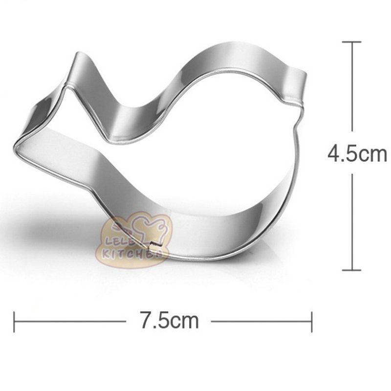 Little Bird Cookie Cutter - 7cm -  Stainless Steel - Crafty Cookie Cutters