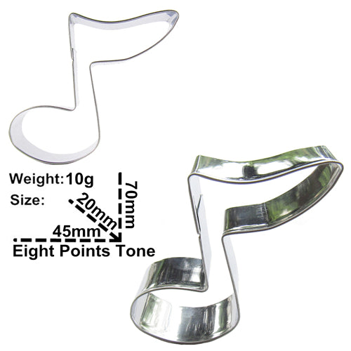 Music Note Cookie Cutter - 7cm - Stainless Steel - Crafty Cookie Cutters