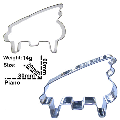 Piano Cookie Cutter - 8cm - Stainless Steel - Crafty Cookie Cutters