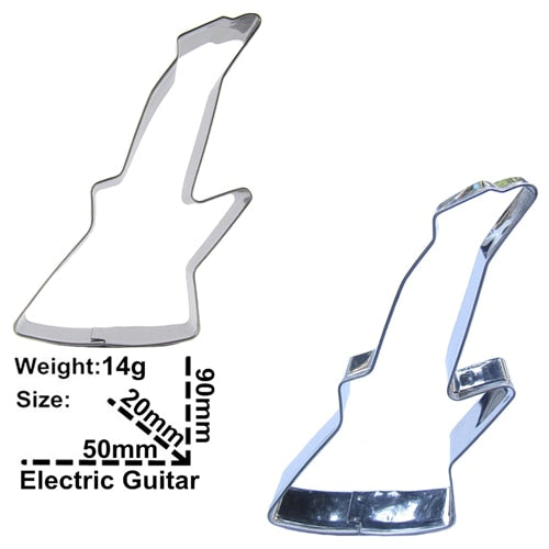 Electric Guitar Cookie Cutter - 9cm - Stainless Steel - Crafty Cookie Cutters
