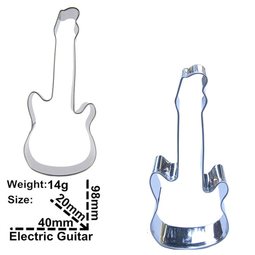 Electric Guitar Cookie Cutter - 10cm - Stainless Steel - Crafty Cookie Cutters