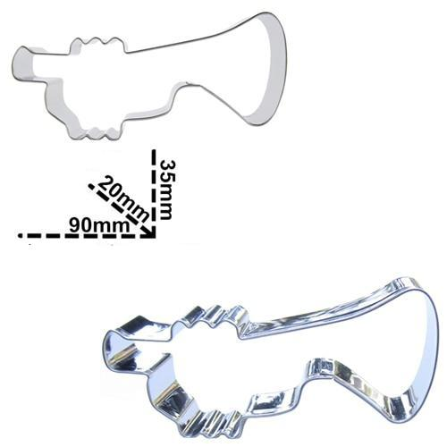 Trumpet Cookie Cutter - 9cm - Stainless Steel - Crafty Cookie Cutters
