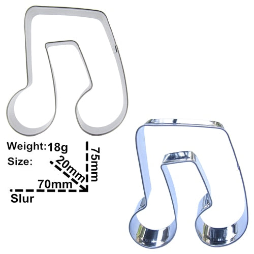 Music Note Cookie Cutter - 8cm - Stainless Steel - Crafty Cookie Cutters
