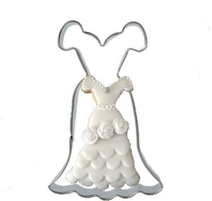 Long Dress Cookie Cutter - 8cm - Stainless Steel - Crafty Cookie Cutters