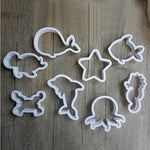 Sea Creatures Cookie Cutter Set - 8pcs - Plastic - Crafty Cookie Cutters