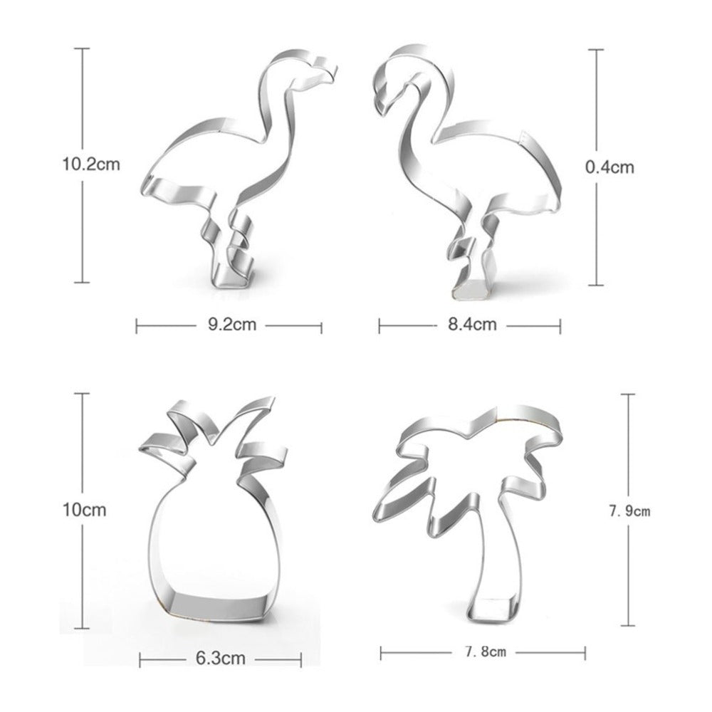Tropical Set - 10cm - Stainless Steel - Crafty Cookie Cutters