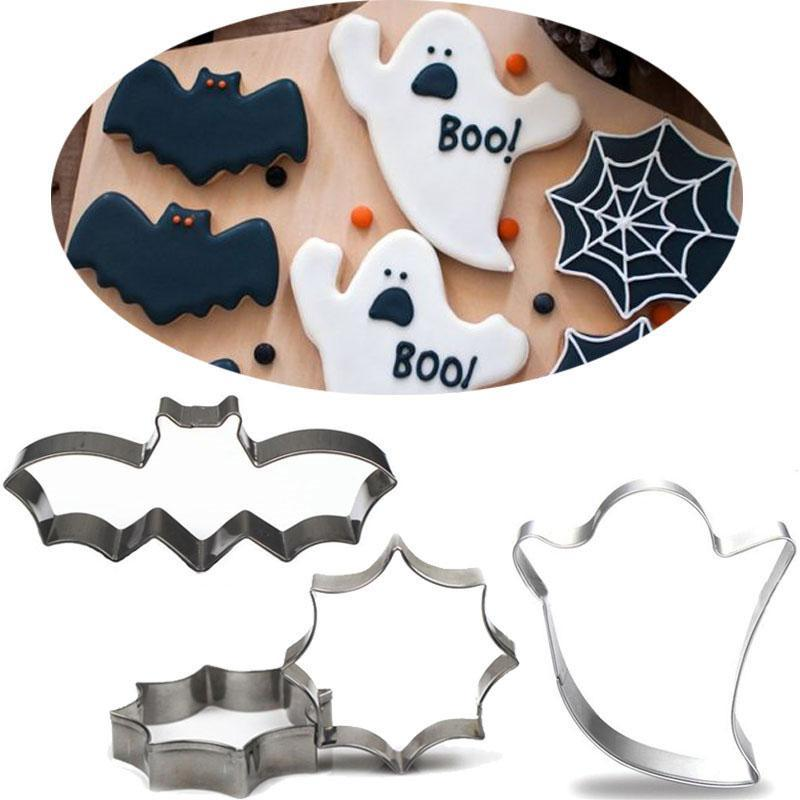 Halloween Cookie Cutter Set - 3pcs - 8cm - Crafty Cookie Cutters