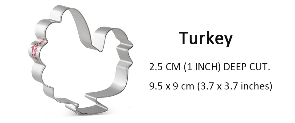 Turkey Cookie Cutter - 9cm - Stainless Steel - Crafty Cookie Cutters