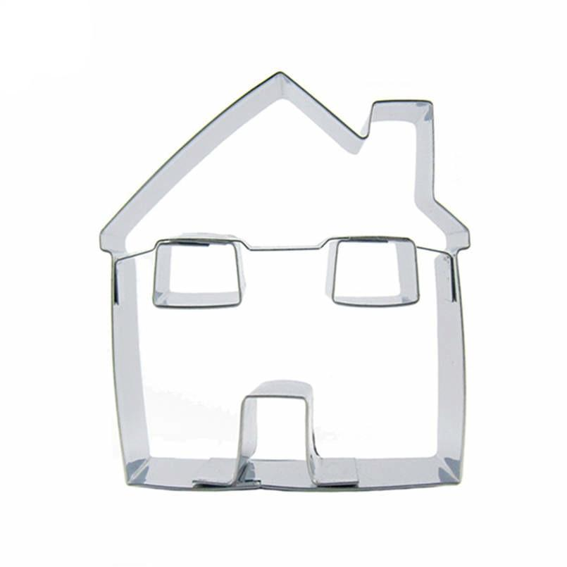 House Cookie Cutter - 10cm - Stainless Steel - Crafty Cookie Cutters