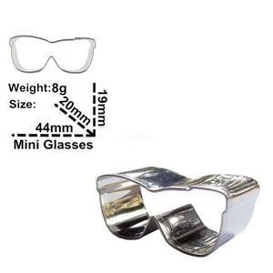 Glasses Cookie Cutter - 4cm - Stainless Steel - Crafty Cookie Cutters