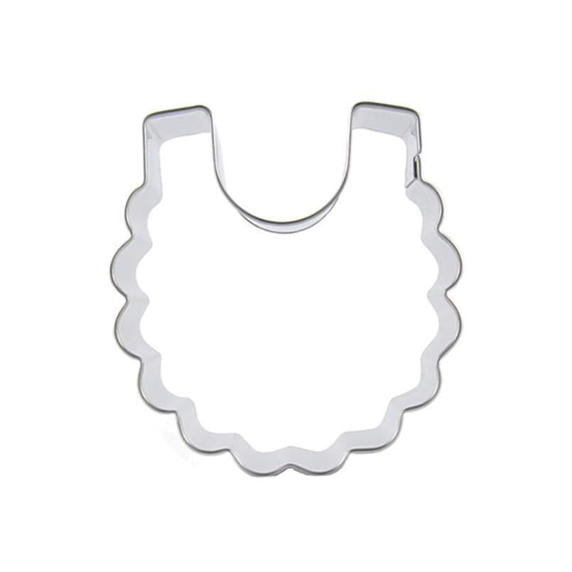 Baby Bib - 7cm - Stainless Steel - Crafty Cookie Cutters