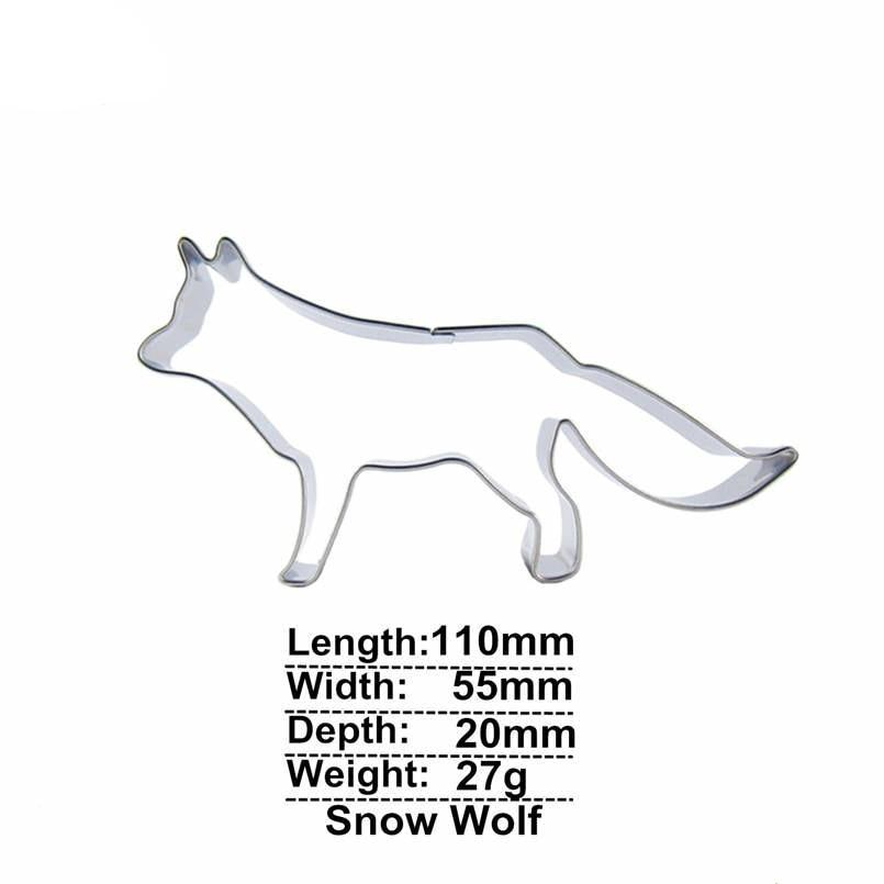Wolf Cookie Cutter - 11cm - Stainless Steel - Crafty Cookie Cutters