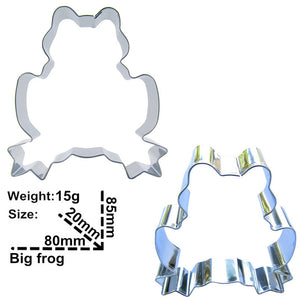 Frog Cookie Cutter - 9cm - Stainless Steel - Crafty Cookie Cutters
