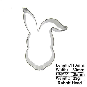 Rabbit Head Cookie Cutter - 11cm - Stainless Steel - Crafty Cookie Cutters