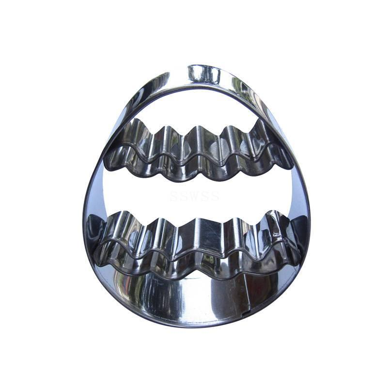 Easer Egg Cookie Cutter - 8cm - Stainless Steel - Crafty Cookie Cutters