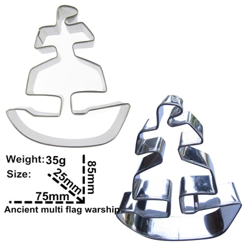 Ship Cookie Cutter - 9cm - Stainless Steel - Crafty Cookie Cutters