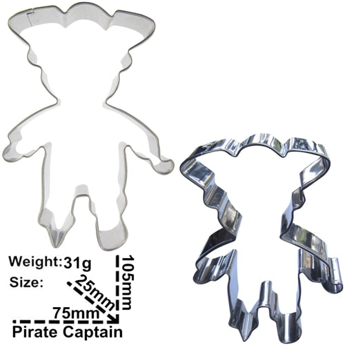 Pirate Cookie Cutter - 10cm - Stainless Steel - Crafty Cookie Cutters