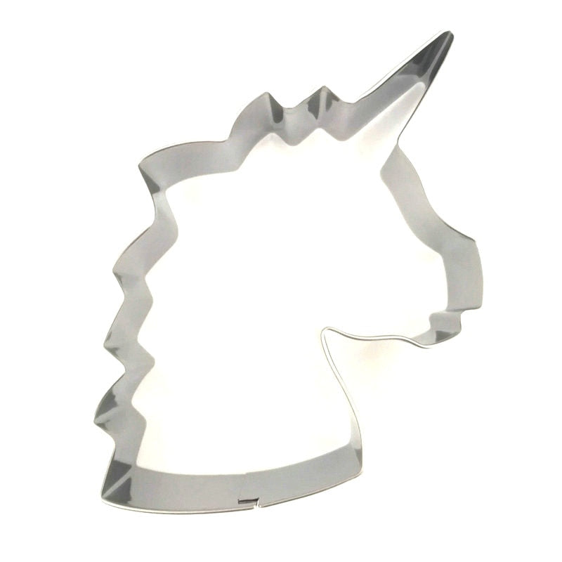 Unicorn Head Cookie Cutter - 8cm - Stainless Steel - Crafty Cookie Cutters