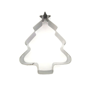 Christmas Tree Cookie Cutter - 8cm - Stainless Steel - Crafty Cookie Cutters