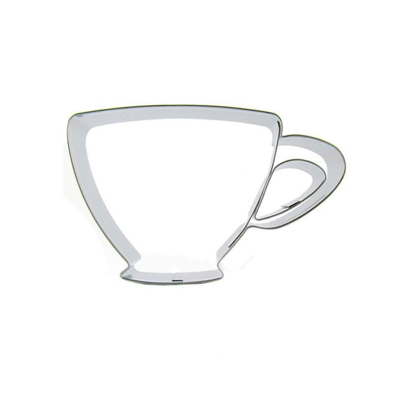 Teacup Cookie Cutter - 10cm - Stainless Steel - Crafty Cookie Cutters