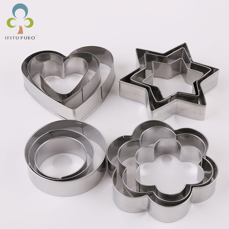 Shapes Cookie Cutter Set - 12pcs - Stainless Steel - Crafty Cookie Cutters