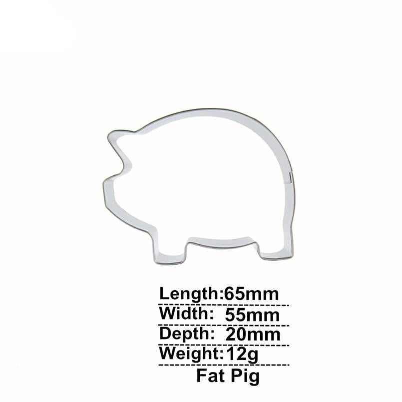 Fat Pig - 7cm - Stainless Steel - Crafty Cookie Cutters