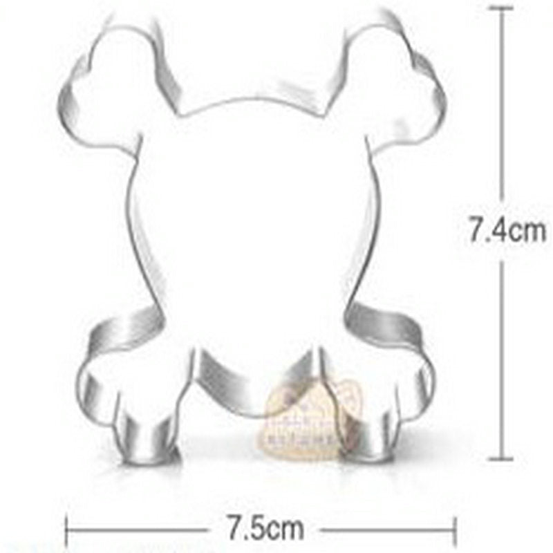 Skull and Cross Bones Cookie Cutter - 7cm - Stainless Steel - Crafty Cookie Cutters