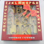 Letter/Alphabet Cookie Cutter Set 26Pcs - 8cm - Stainless Steel - Crafty Cookie Cutters