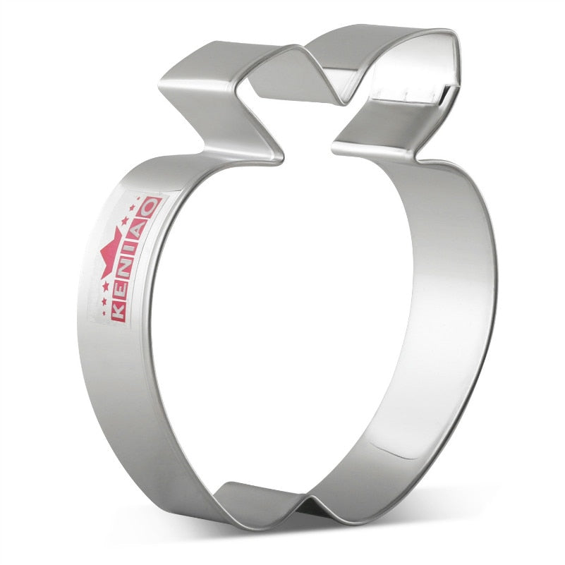 Apple Cookie Cutter  - Stainless Steel - Crafty Cookie Cutters