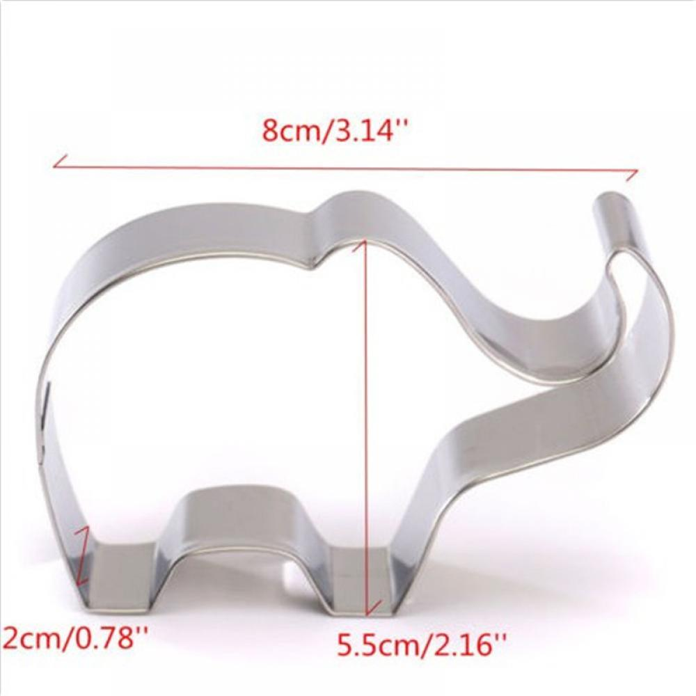 Elephant Cookie Cutter - 8cm - Stainless Steel - Crafty Cookie Cutters