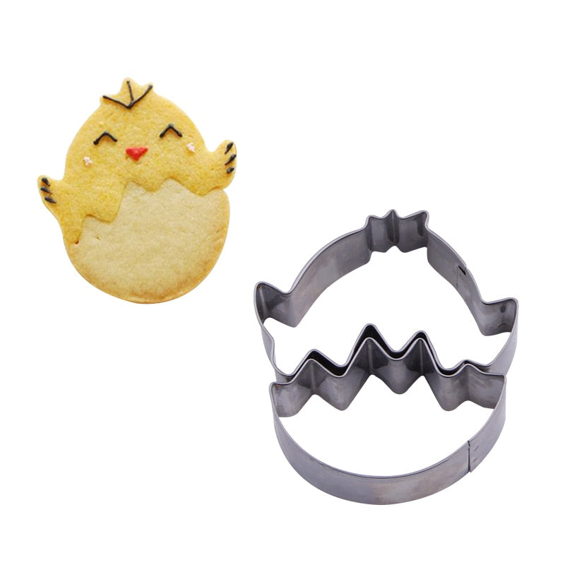 Hatching Chick Egg - Stainless Steel - Crafty Cookie Cutters