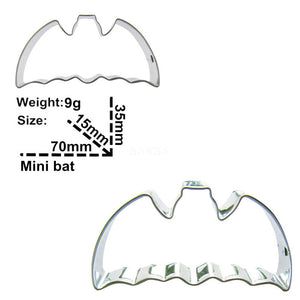 Bat Cookie Cutter - 7cm - Stainless Steel - Crafty Cookie Cutters
