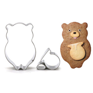 Bear with Honey Cookie Cutter - 7cm - Stainless Steel - Crafty Cookie Cutters
