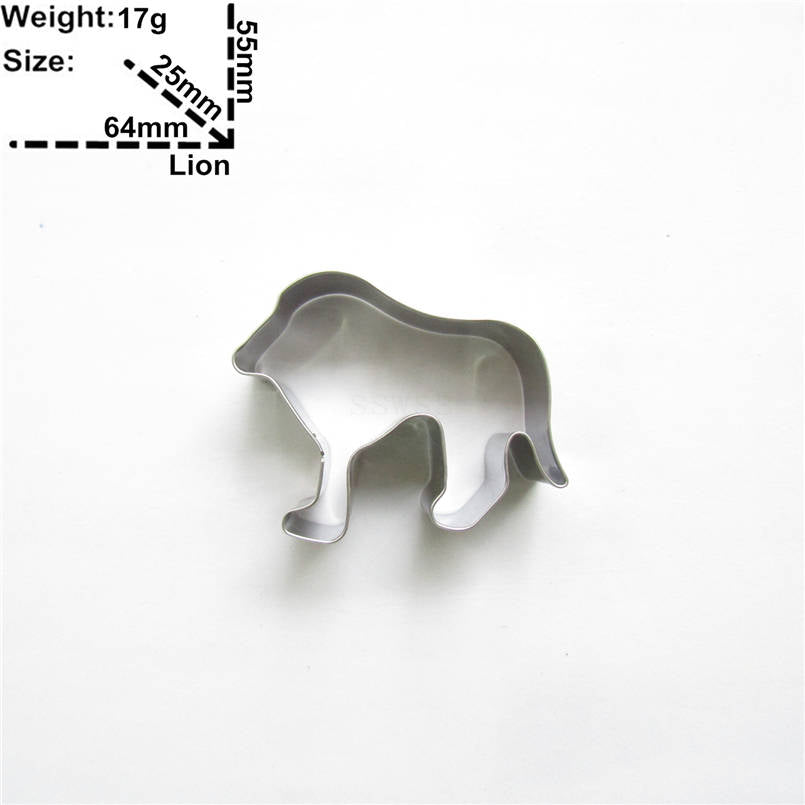 Lion Cookie Cutter - 6cm - Stainless Steel - Crafty Cookie Cutters