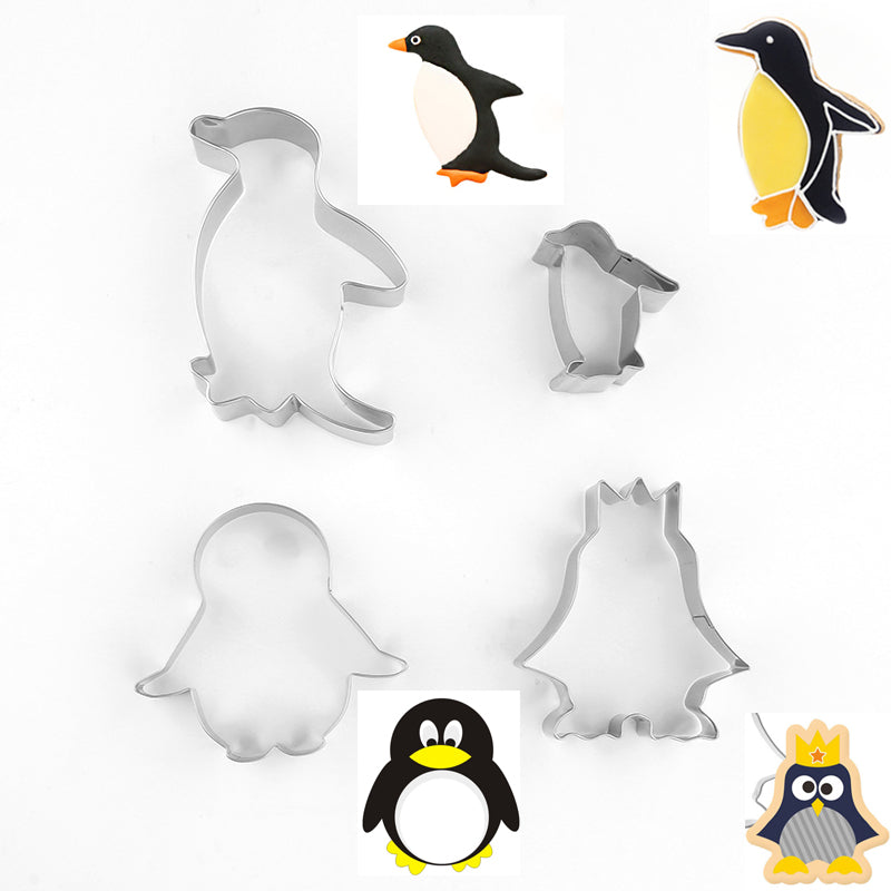 Penguin Cookie Cutter Set - 4pcs - Crafty Cookie Cutters