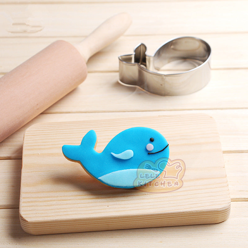Whale Cookie Cutter - 8cm - Stainless Steel - Crafty Cookie Cutters