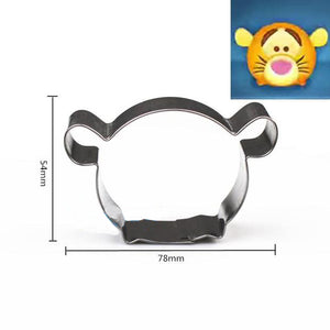 Cartoon Tiger Cookie Cutter - 8cm - Stainless Steel - Crafty Cookie Cutters