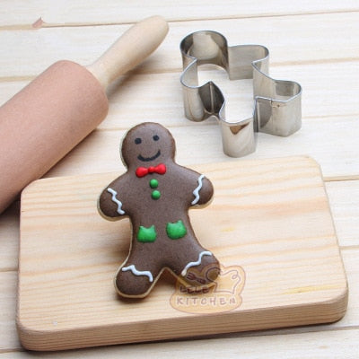 Gingerbread Man Cookie Cutter - 8cm - Stainless Steel - Crafty Cookie Cutters