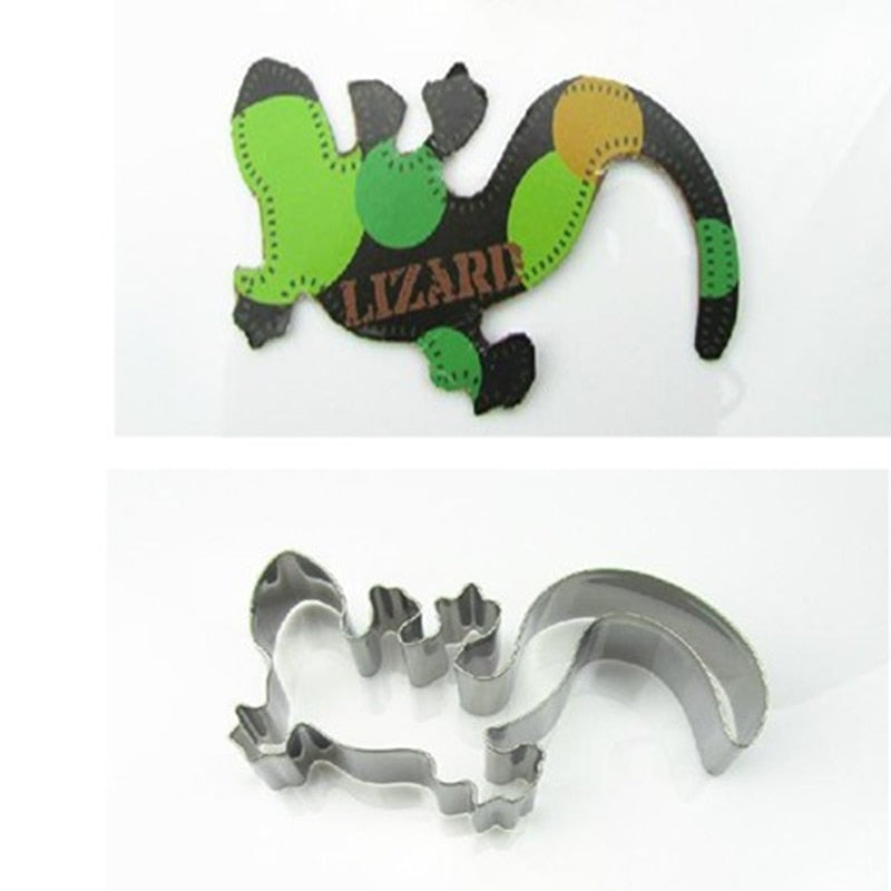 Lizzard, Gecko Cookie Cutter - Crafty Cookie Cutters