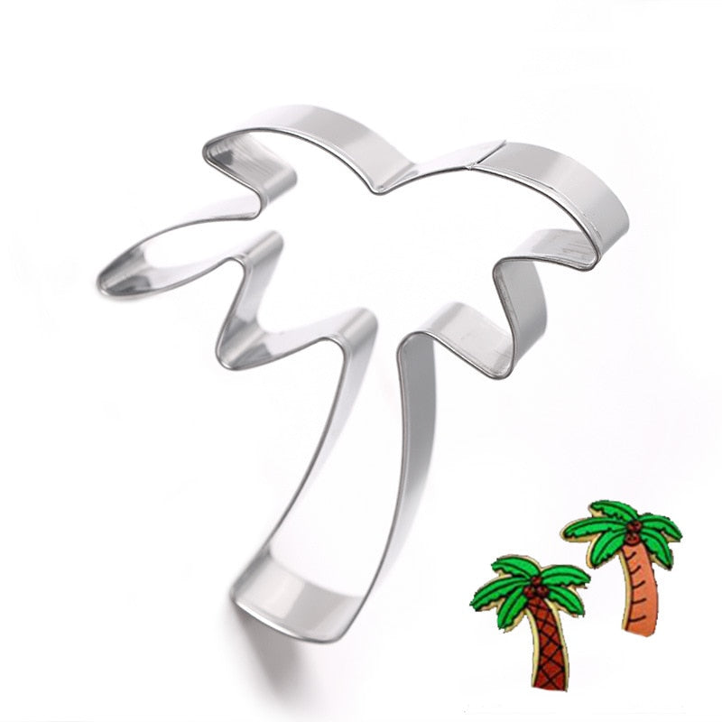 Palm Tree Cookie Cutter - 8cm - Stainless Steel - Crafty Cookie Cutters